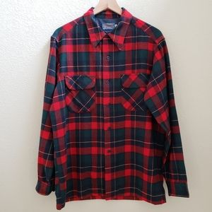 VINTAGE Pendleton Kilgore Tartan Virgin Wool Shirt